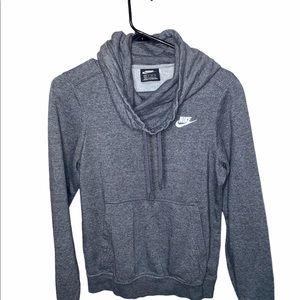 Nike Gray Logo Pullover Sweatshirt Size XS